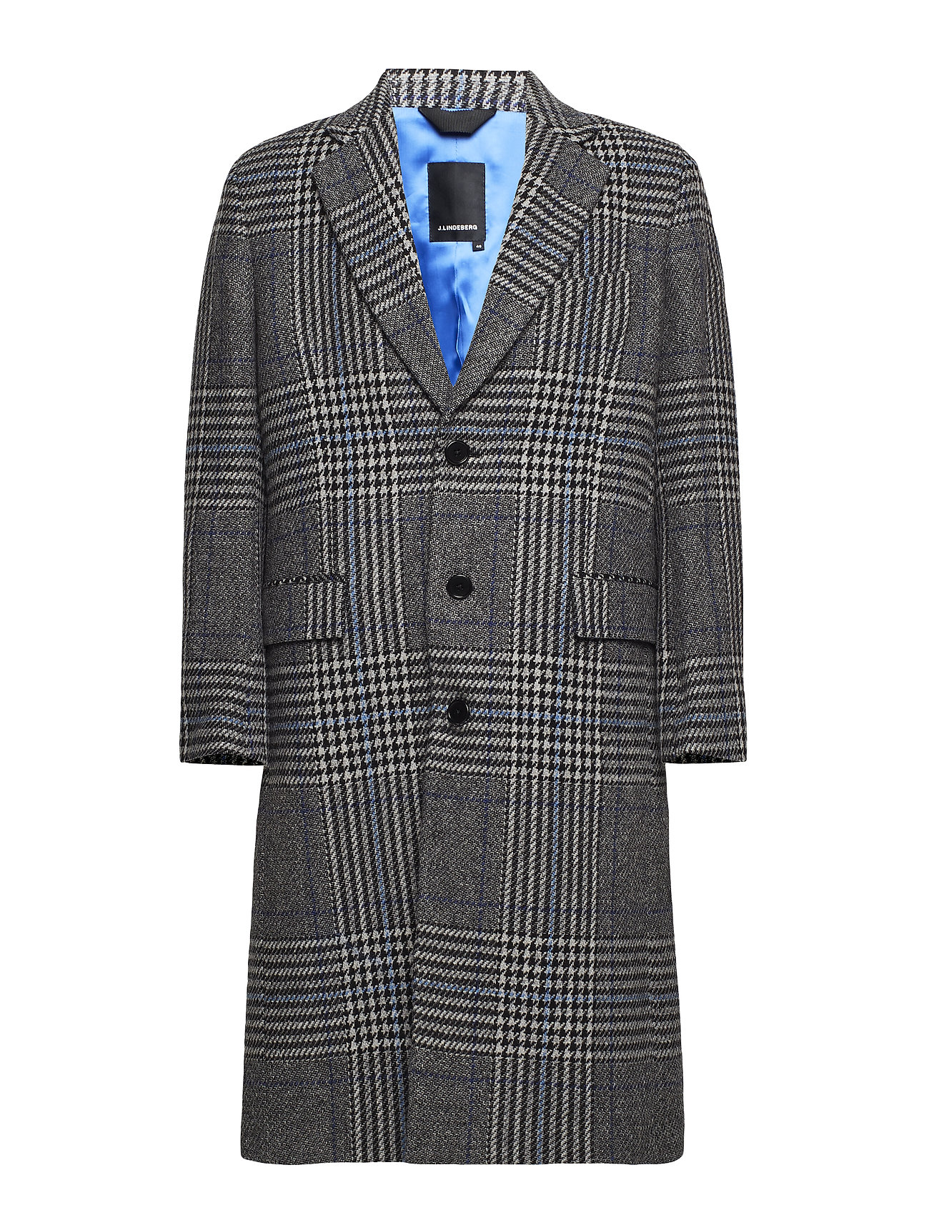 J. Lindeberg James Wool Plaid - WONDER BLUE