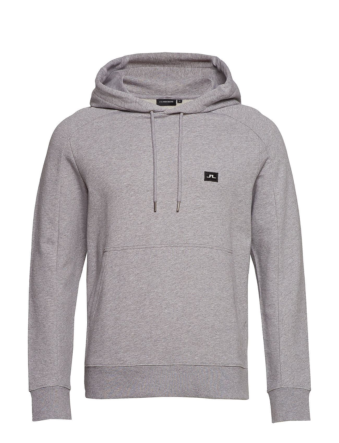 J. Lindeberg Throw Hood Ring loop sweat - LT GREY MELANGE