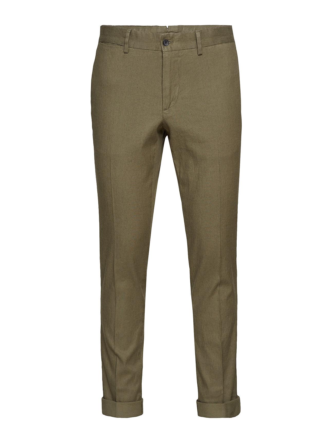 J. Lindeberg Grant Cotton Linen Stretch - IVY GREEN