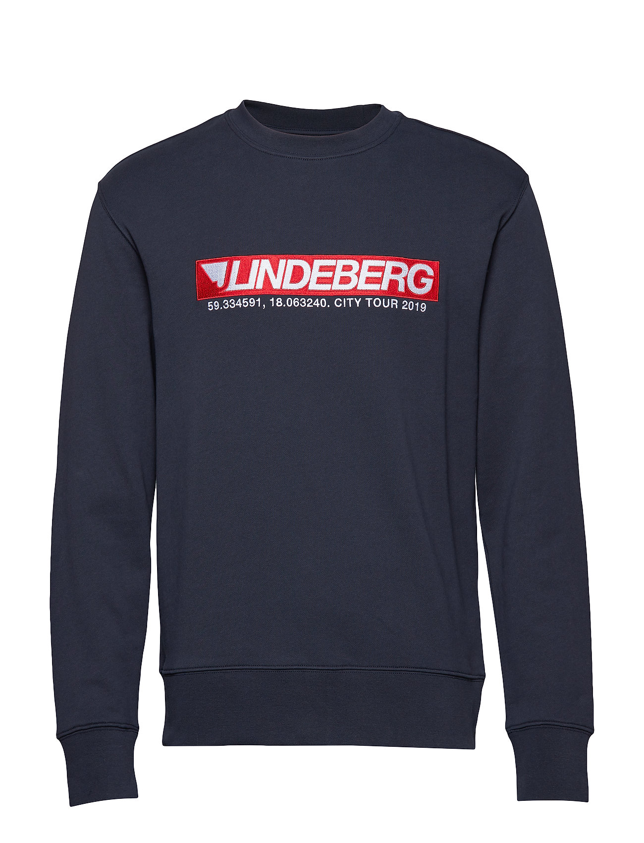 J. Lindeberg Hurl C-Neck Ring Loop Sweat - JL NAVY