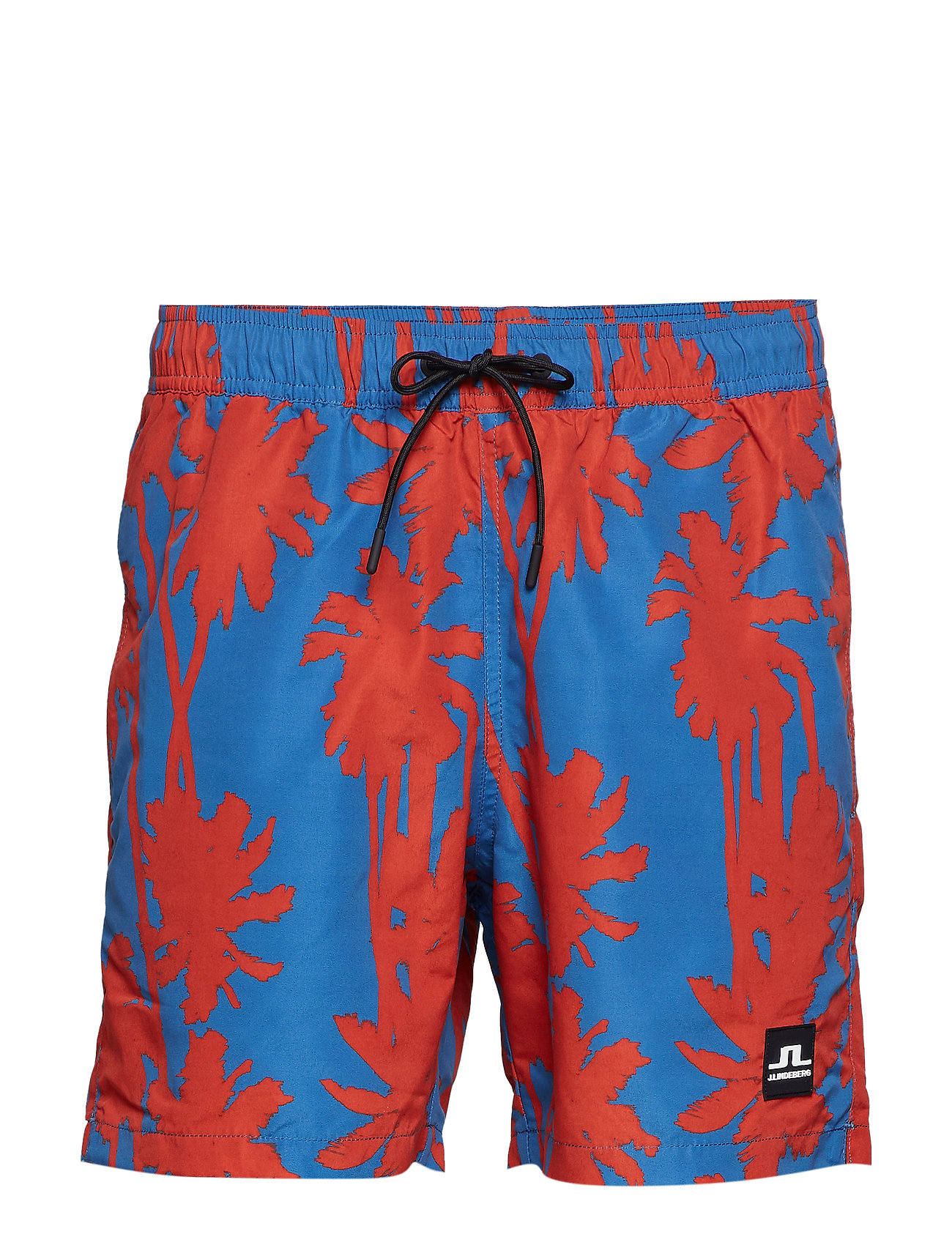 J. Lindeberg Banks Pattern Swim - DEEP RED