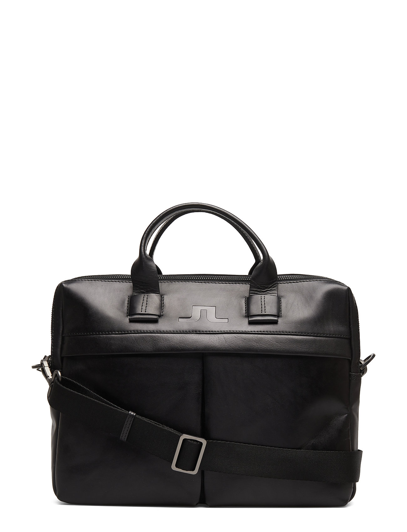 J. Lindeberg S-LAPTOP BAG 50105 Cow Leather - BLACK