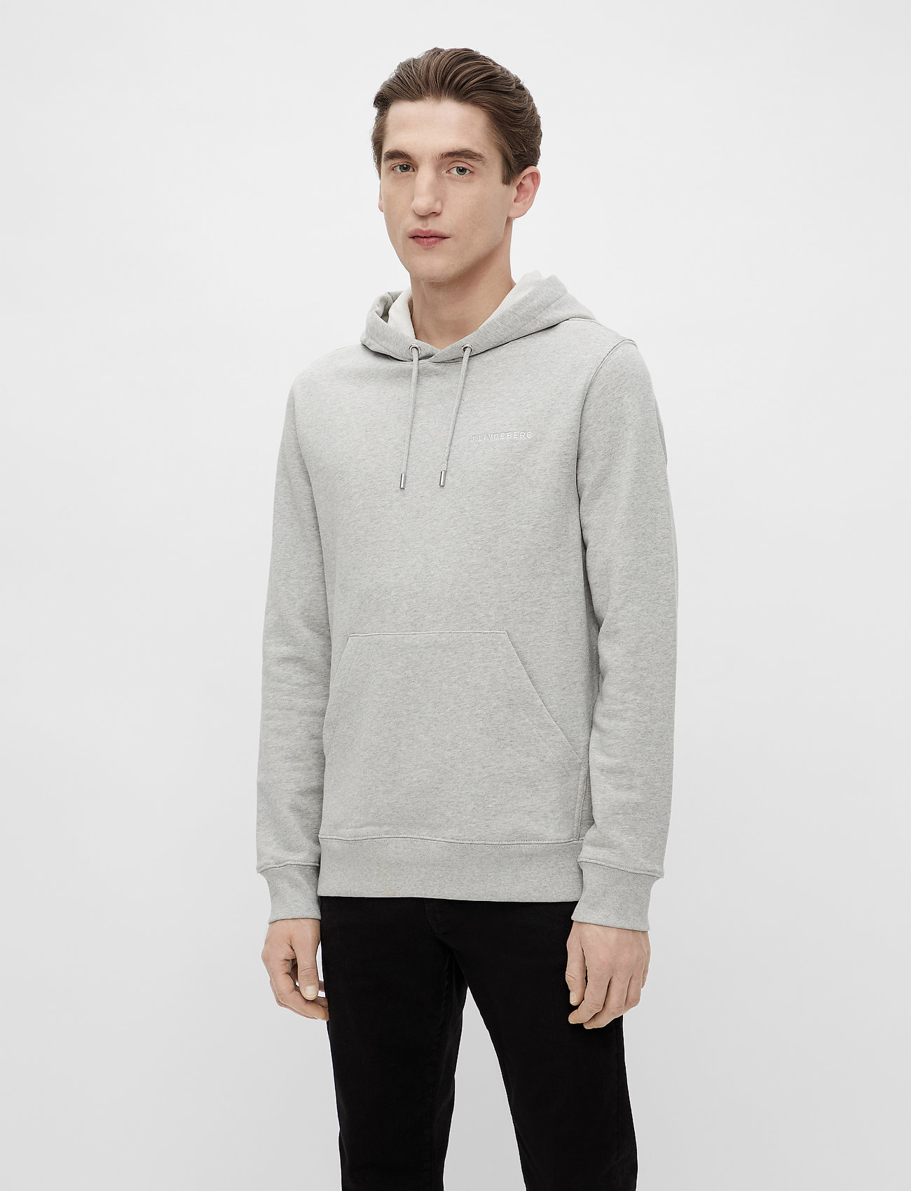 J. Lindeberg - Throw Clean Sweat Hoodie - basic-sweatshirts - grey melange - 0