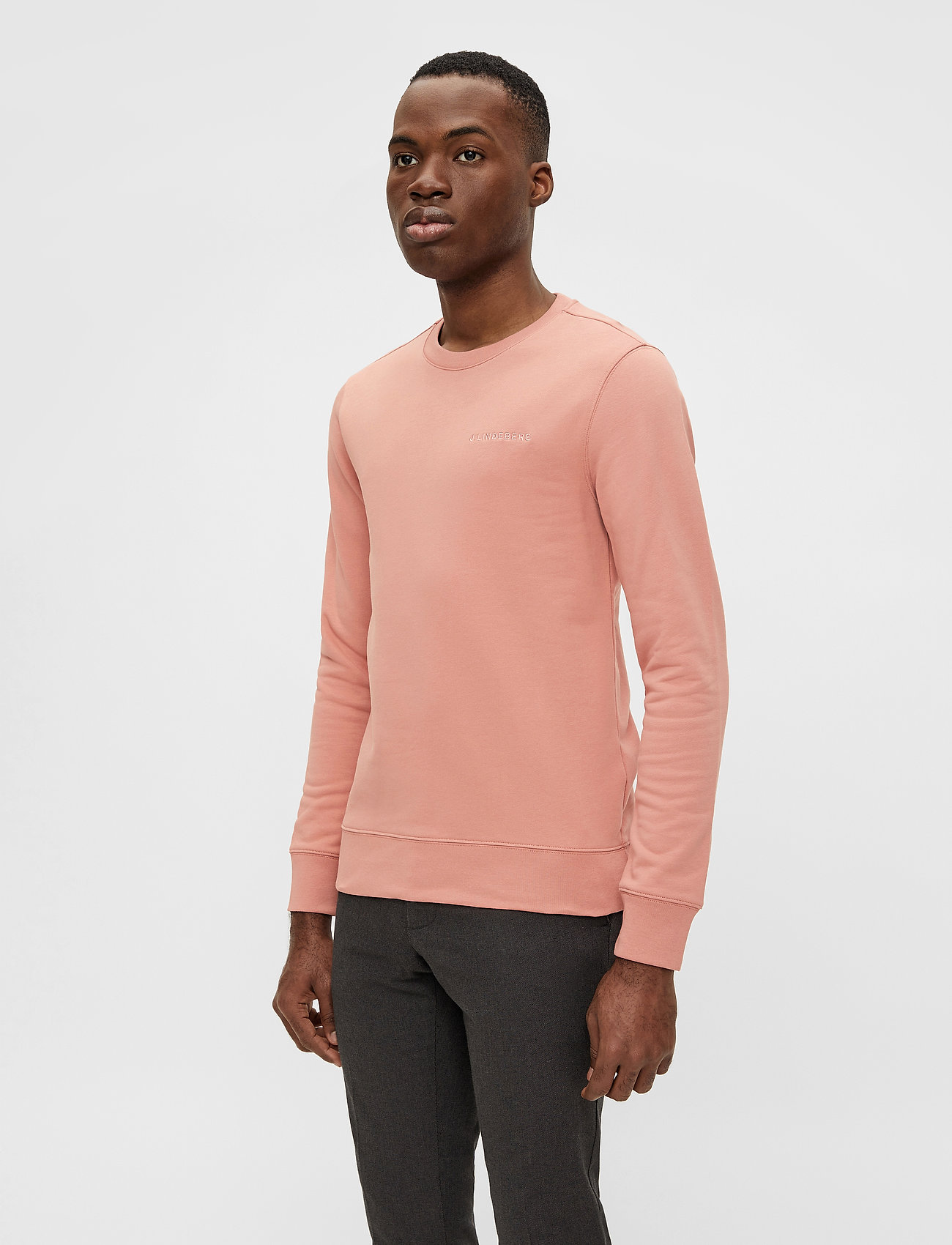 J. Lindeberg - Throw C-neck Sweatshirt - basic-sweatshirts - rose coppar - 0