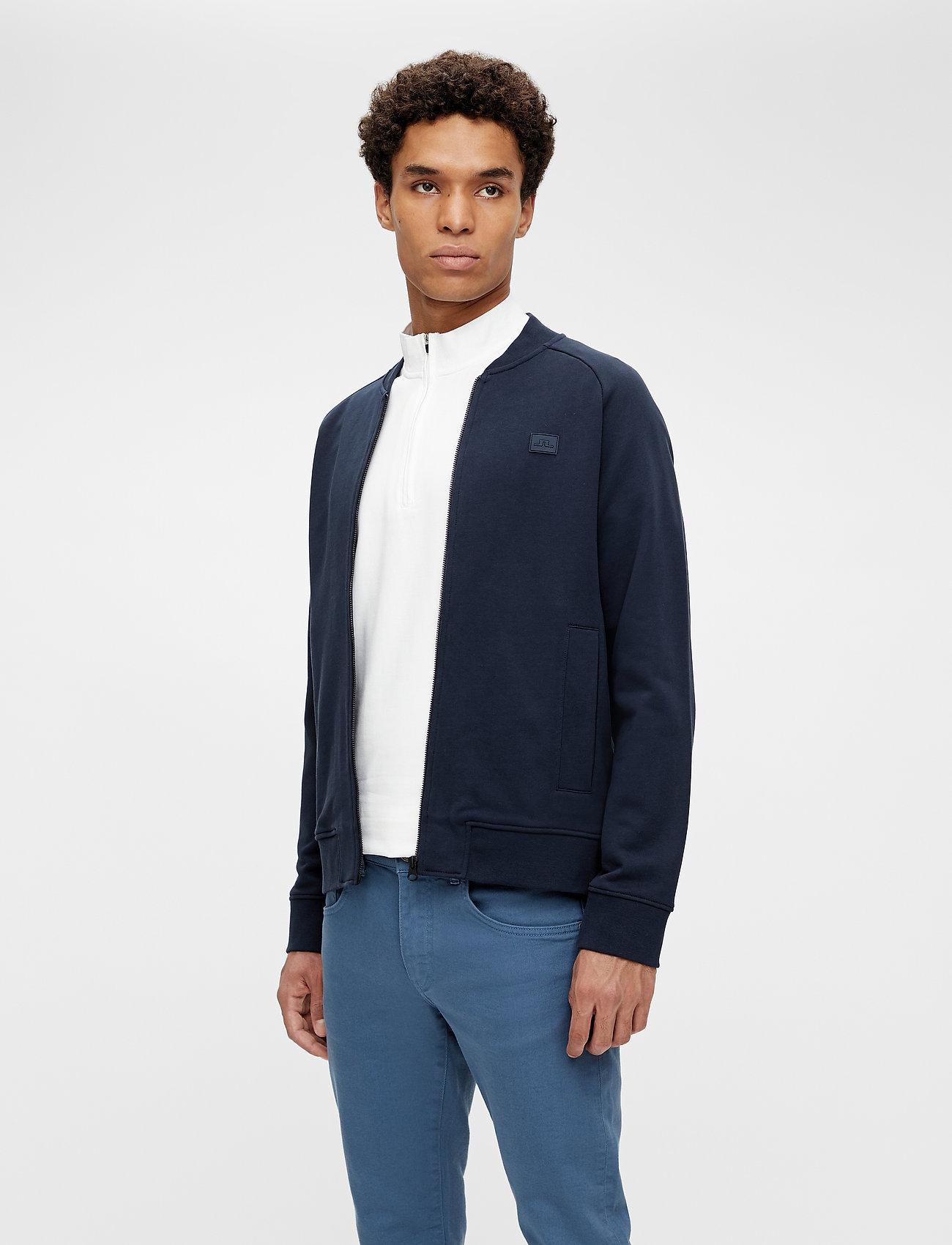 J. Lindeberg - Josef Zip Sweat Shirt - basic-sweatshirts - jl navy - 0