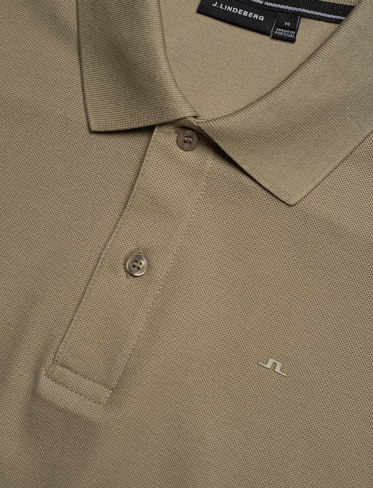 J. Lindeberg Troy-Clean Pique - Poloskjorter COVERT GREEN - Menn Klær