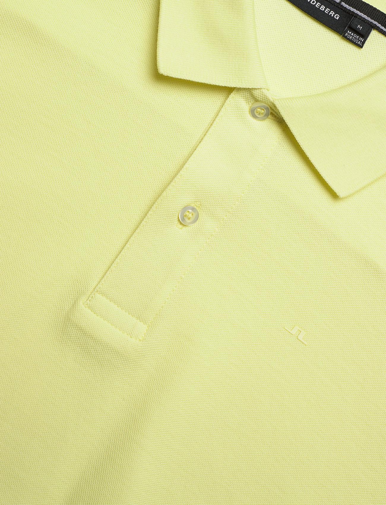 J. Lindeberg Troy-Clean Pique - Poloskjorter STILL YELLOW - Menn Klær