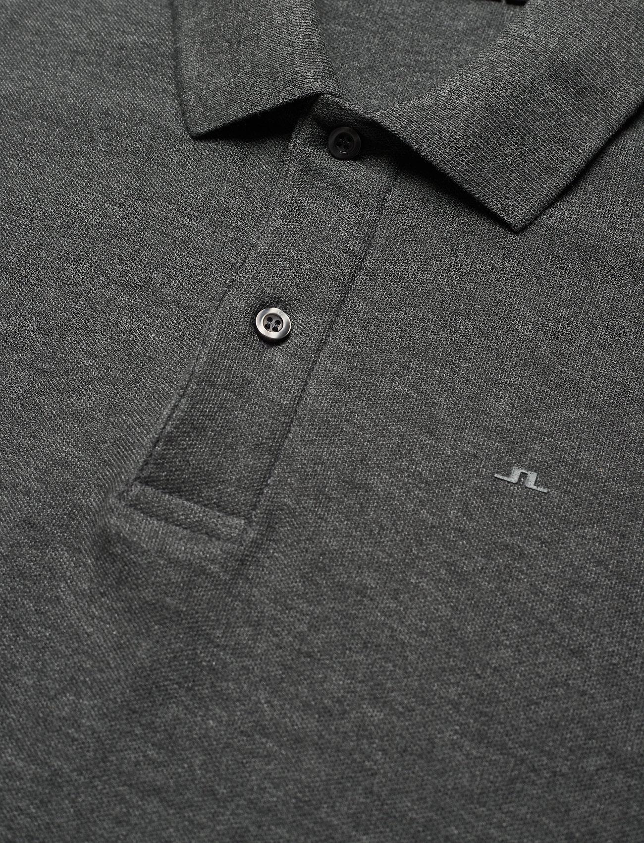 J. Lindeberg Troy Polo Shirt  Clean Pique - Poloskjorter DARK GREY MELANGE - Menn Klær