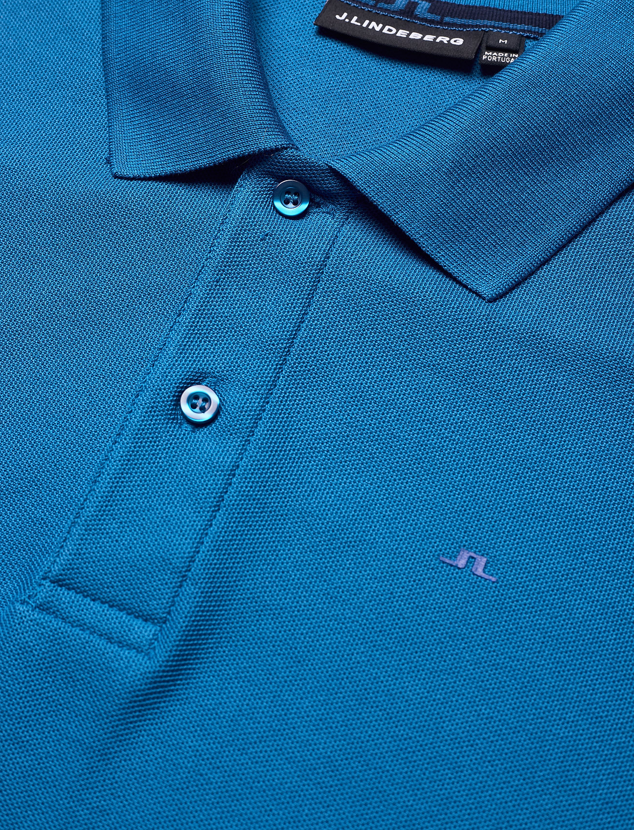 J. Lindeberg Troy Polo Shirt  Clean Pique - Poloskjorter EGYPTIAN BLUE - Menn Klær