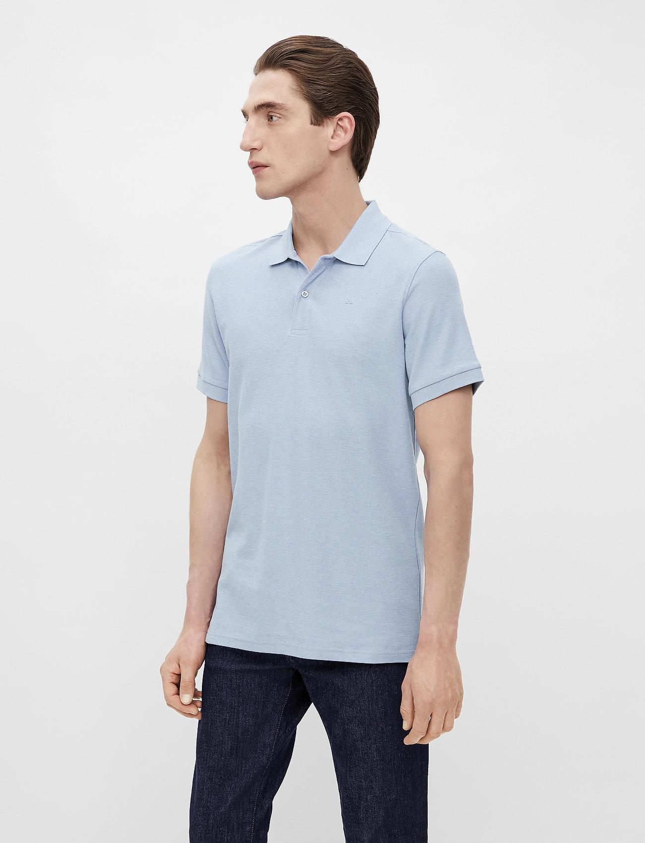 J. Lindeberg - Troy Polo Shirt Seasonal Pique - kurzärmelig - spring blue melange - 0