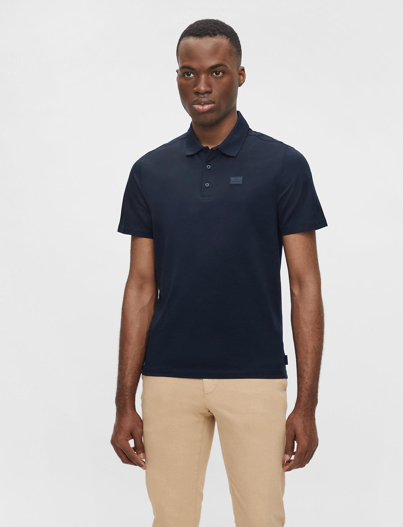 J. Lindeberg - Miles Jersey Polo Shirt - kurzärmelig - jl navy - 0