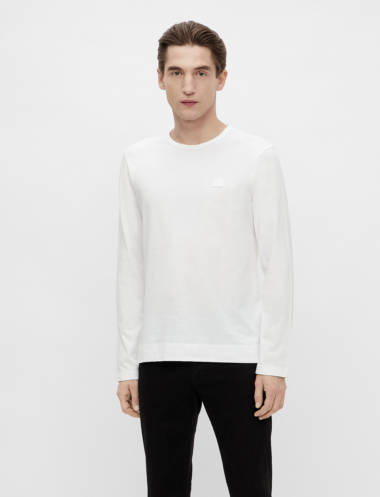 J. Lindeberg - Charlie Long Sleeve T-shirt - basic t-shirts - white - 0