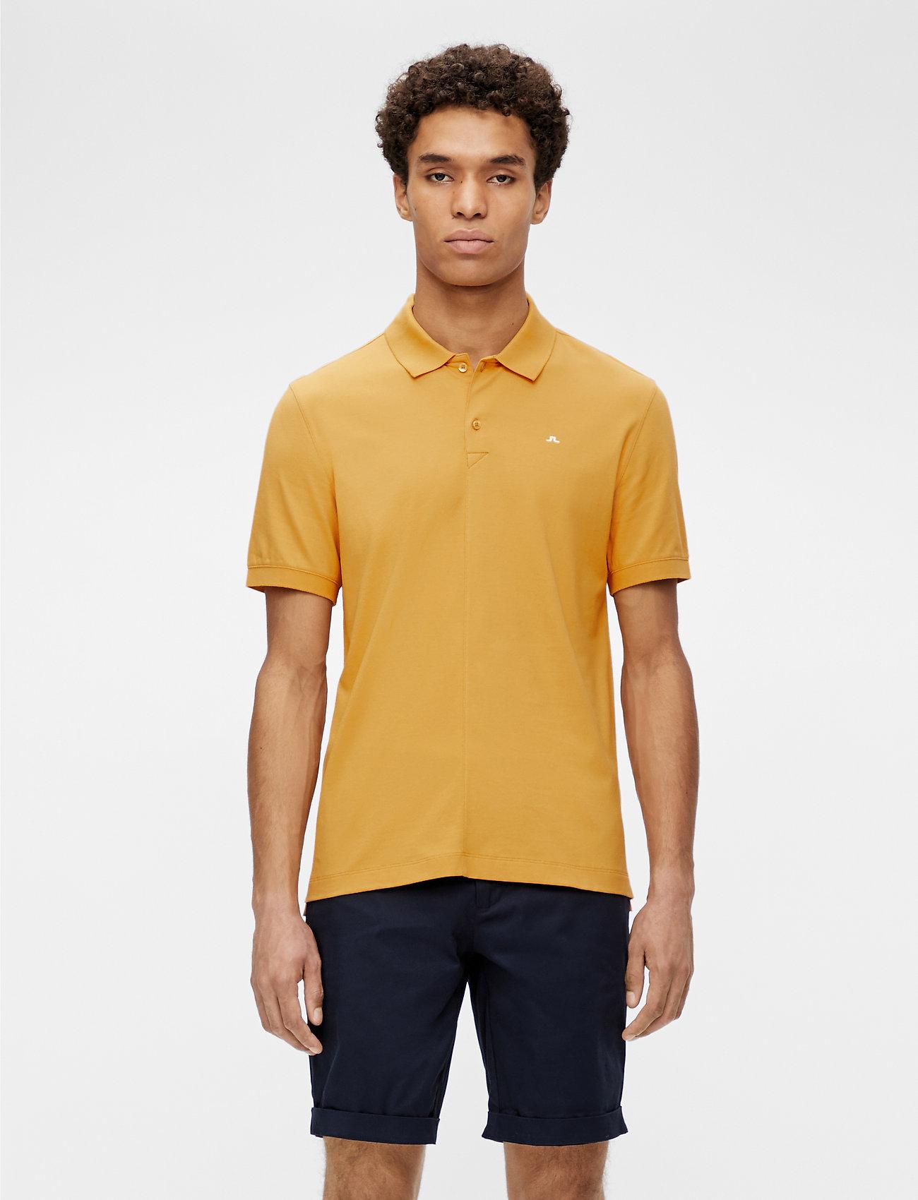 J. Lindeberg - Rubi Slim Polo Shirt - kurzärmelig - golden orange - 0