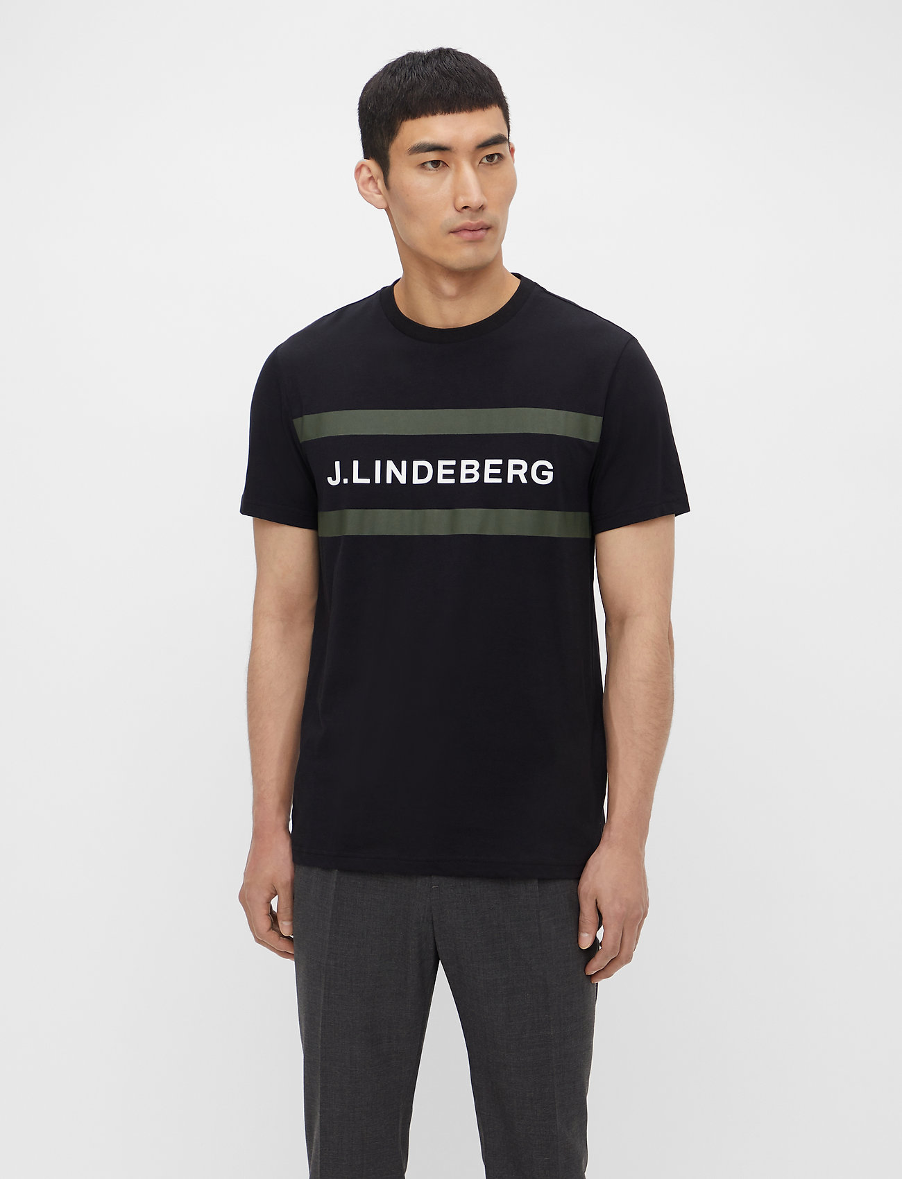 J. Lindeberg - Silo Logo T-shirt - kurzärmelig - black - 0
