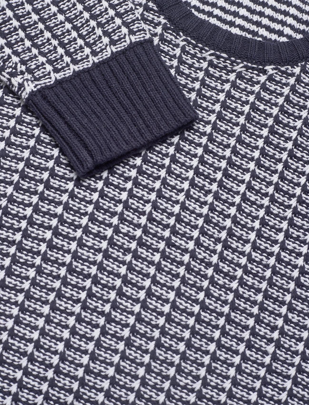 J. Lindeberg Chester-Structure knit - Strikkevarer JL NAVY - Menn Klær