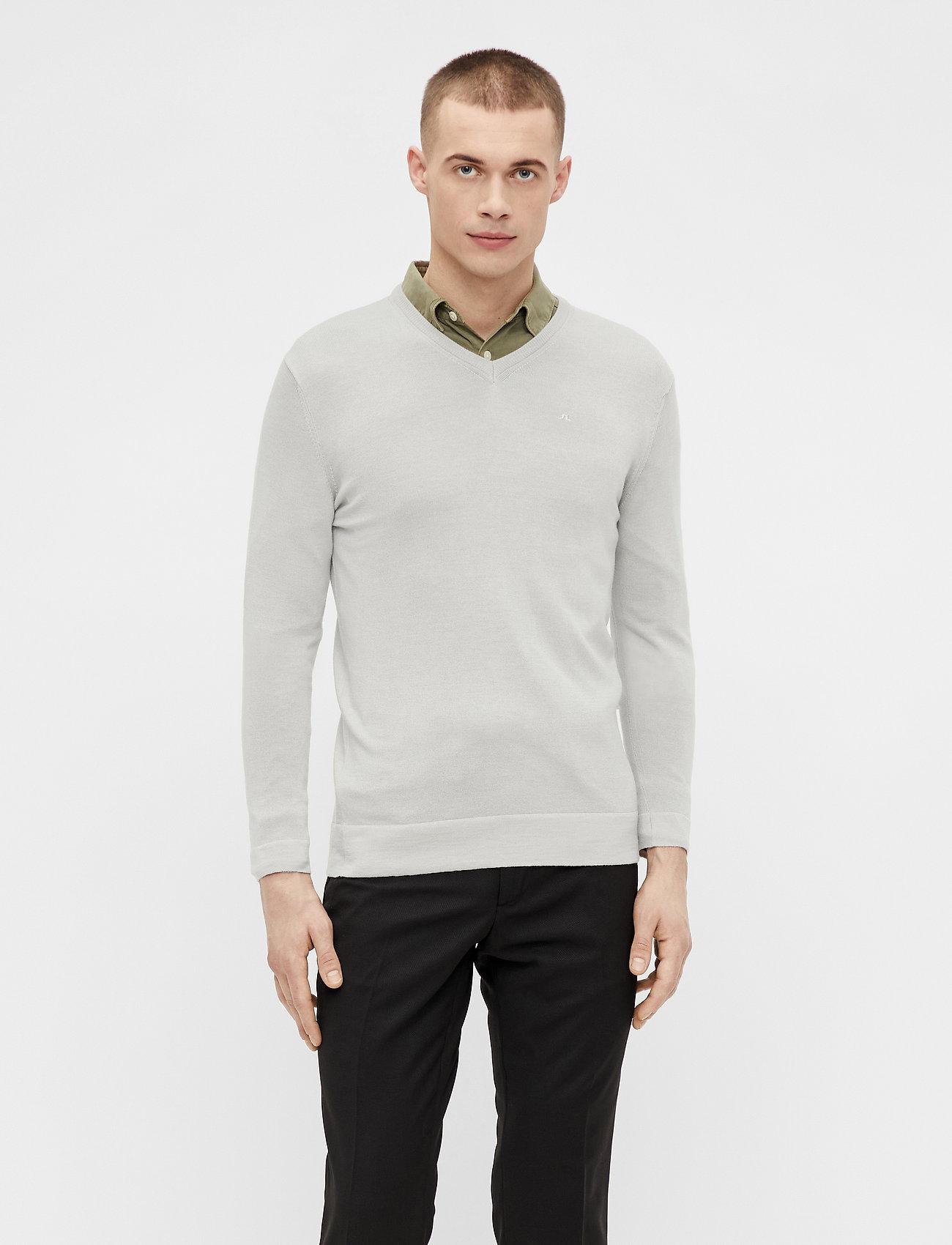 J. Lindeberg - Newman Merino V-neck - basic-strickmode - sand grey - 0