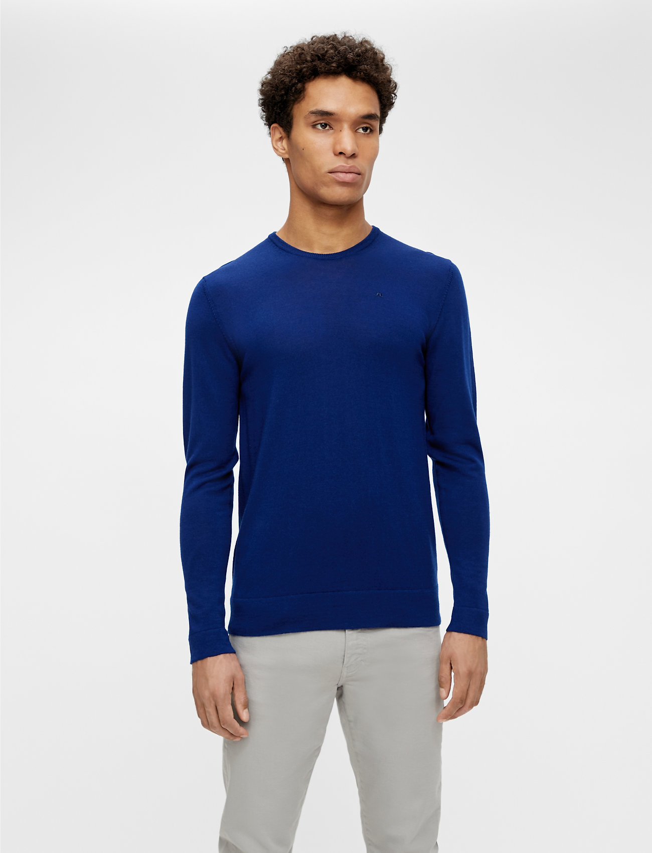 J. Lindeberg - Newman Merino Crew Neck - basic-strickmode - midnight blue - 0