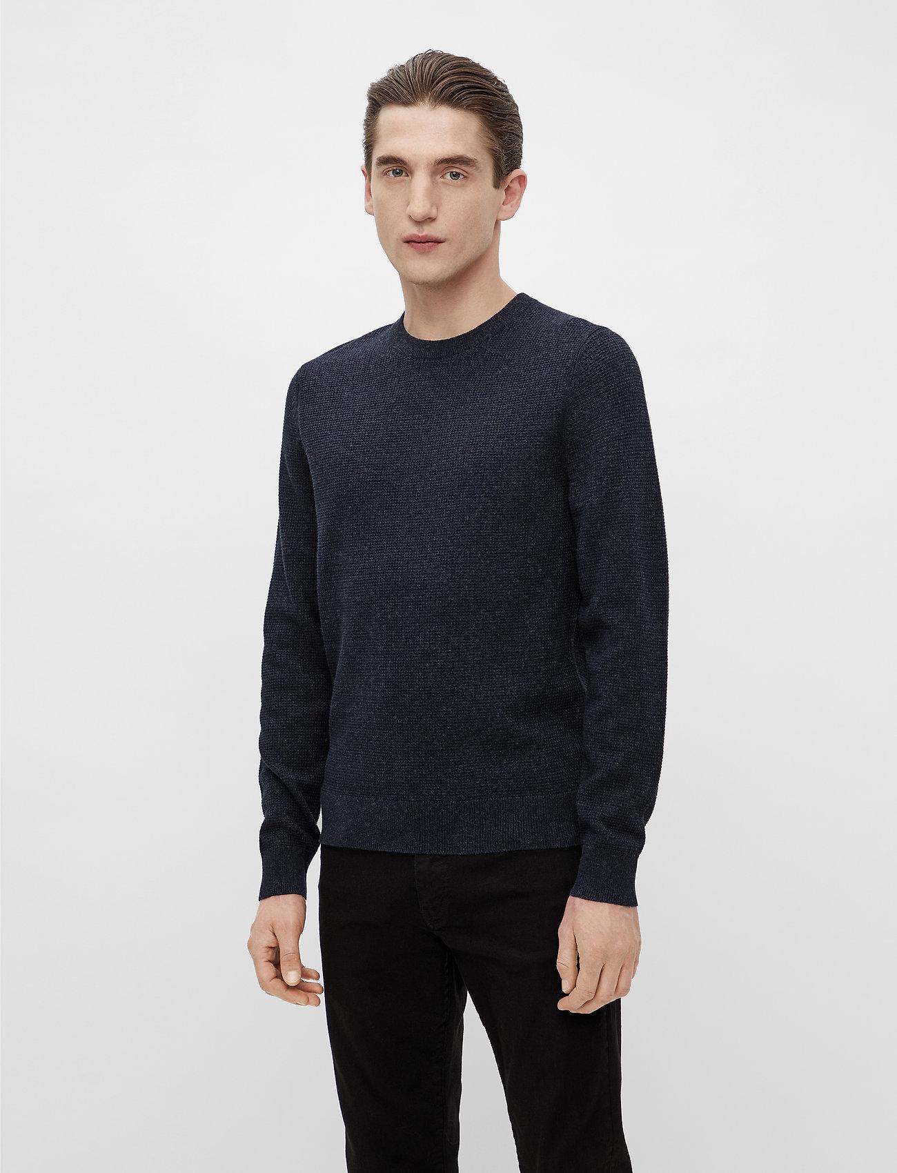 J. Lindeberg - Andy Structure C-Neck Sweater - basic-strickmode - jl navy - 0