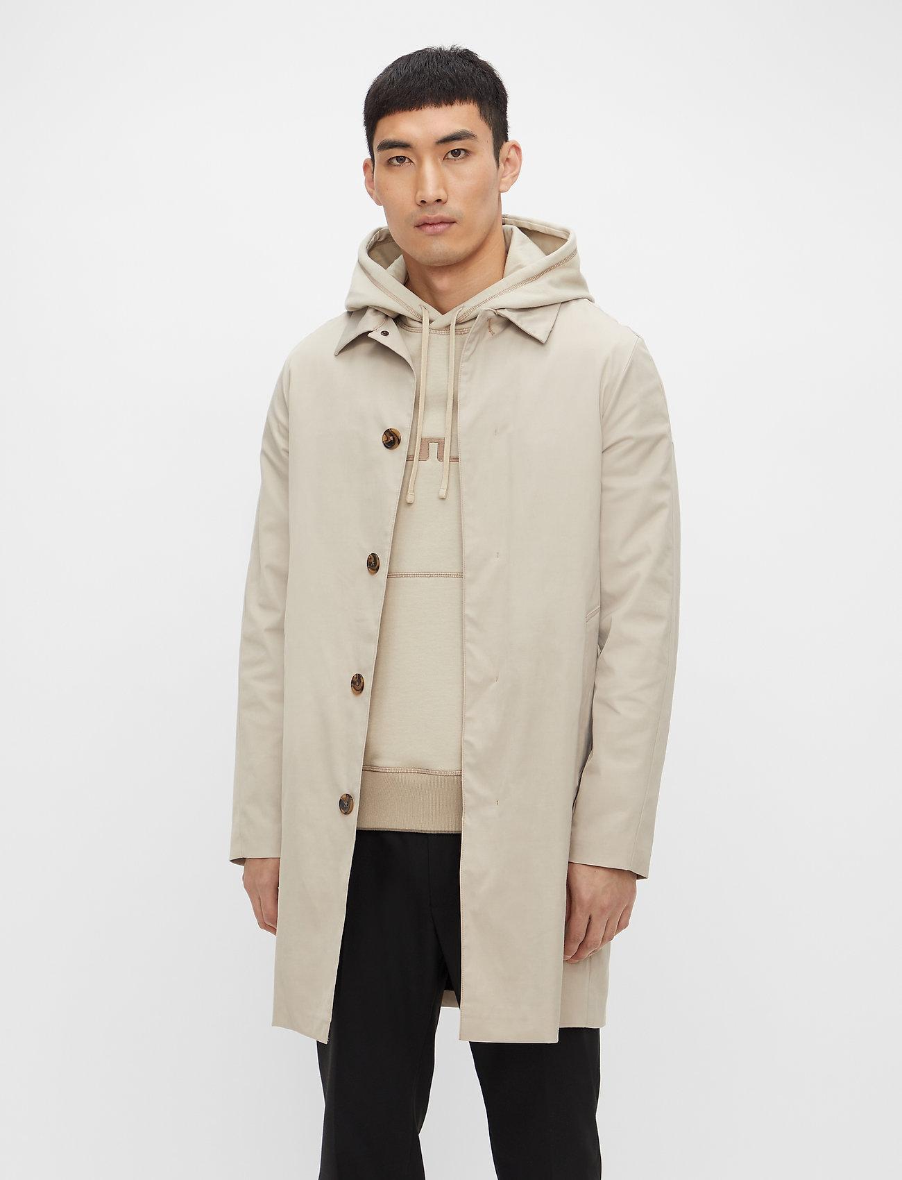 J. Lindeberg - Cane Micro Twill Coat - manteaux legères - sand grey - 0