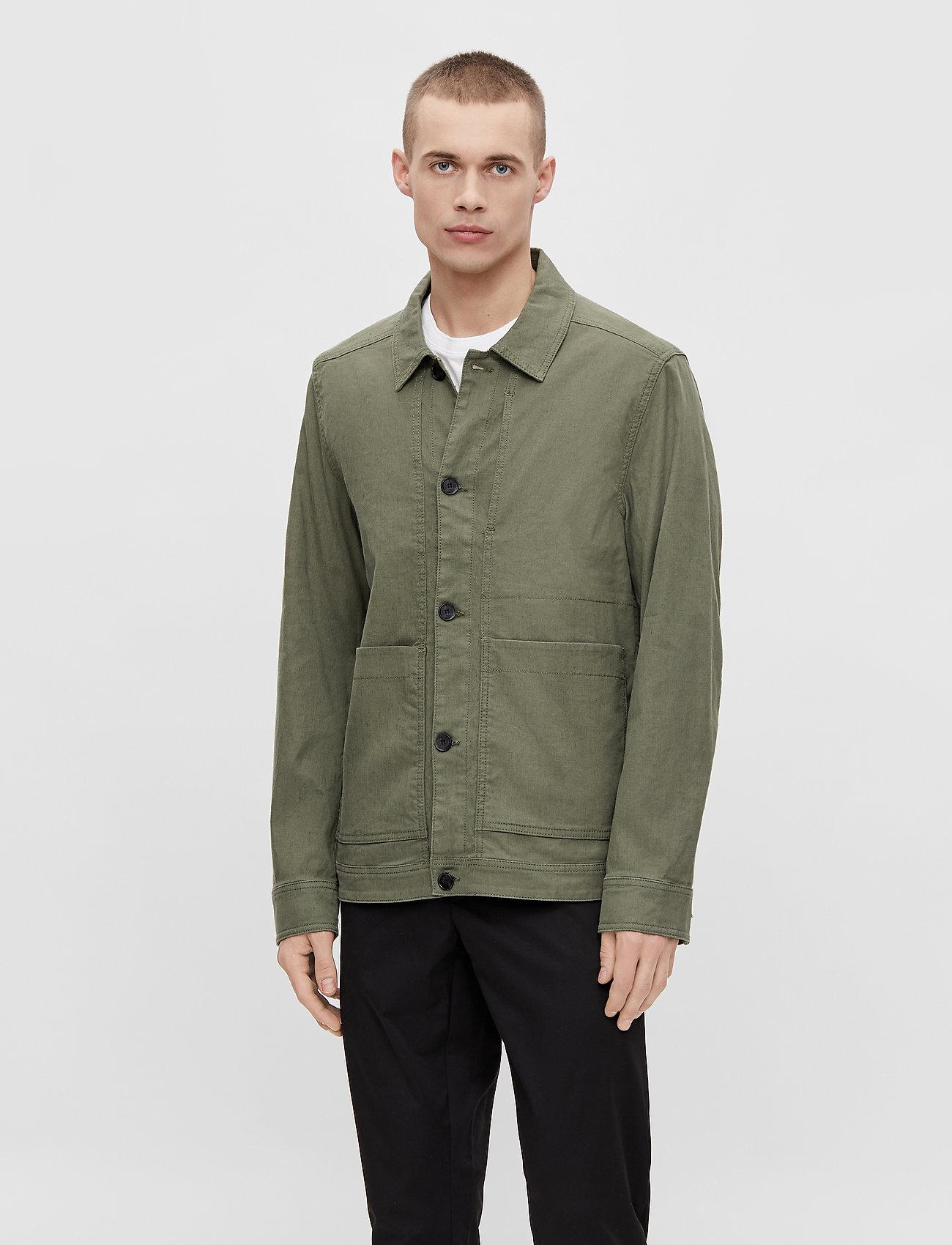 J. Lindeberg - Eric Cotton Linen Jacket - oberteile - lake green - 0