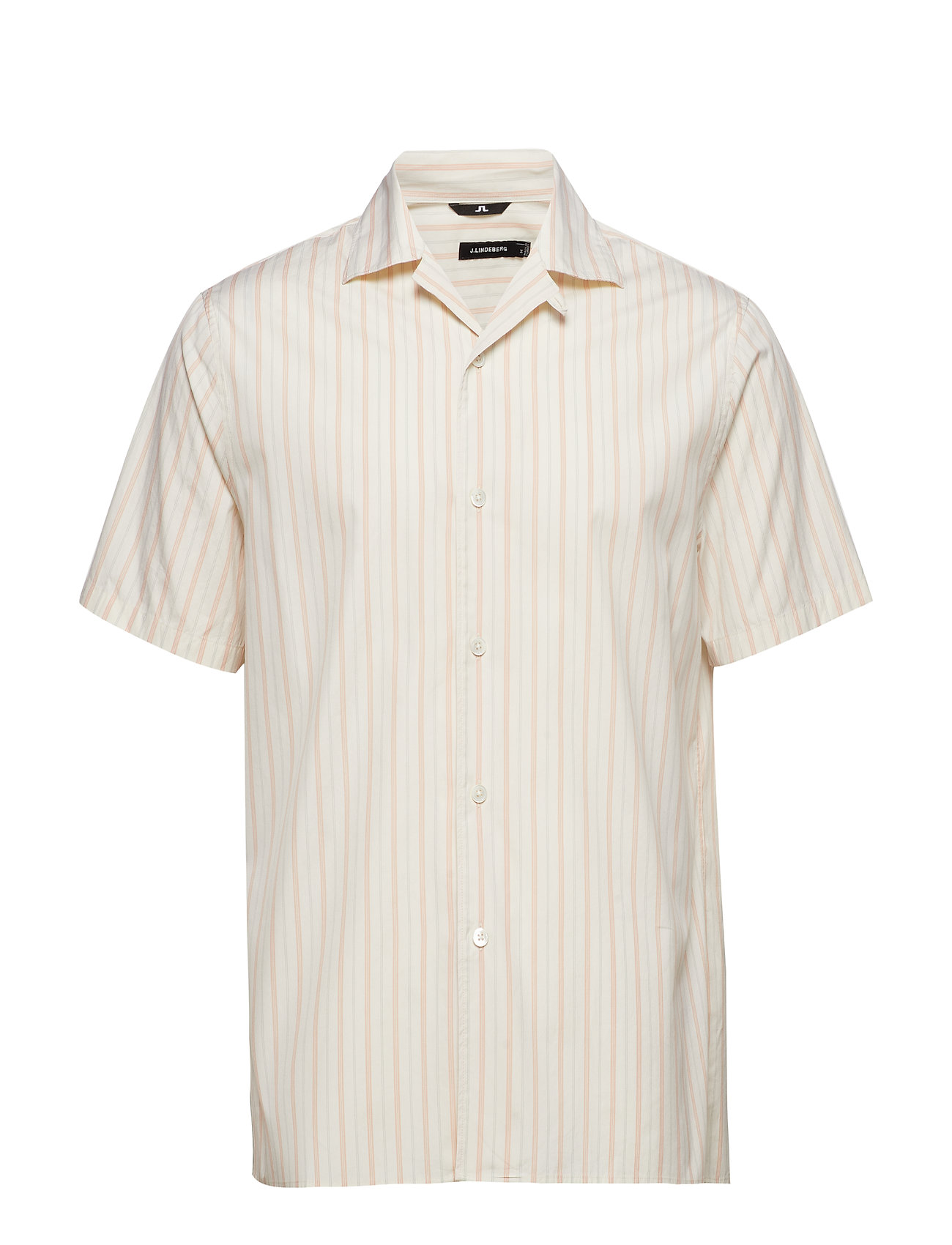 J. Lindeberg David SS Resort-Pop Stripe - SUMMER BEIGE