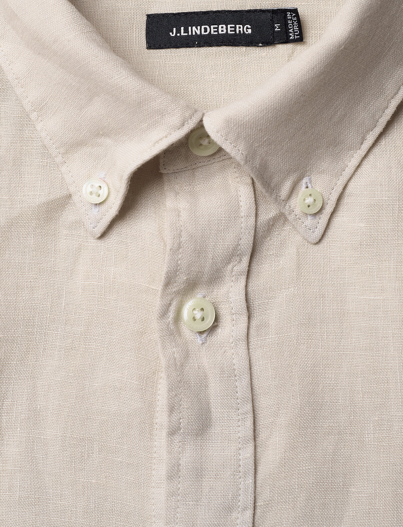 J. Lindeberg - Fredrik BD SS-Clean Linen - chemises basiques - cloud grey - 1