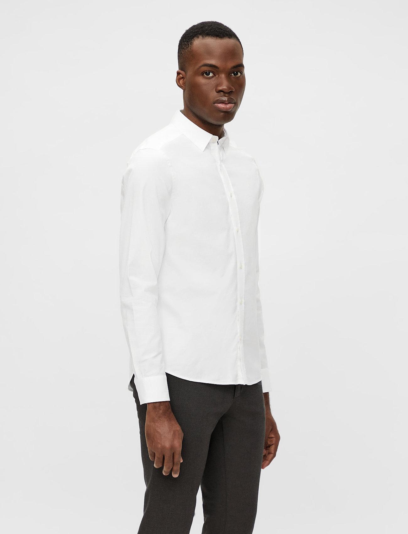 J. Lindeberg - Stretch Oxford Slim Shirt - basic-hemden - white - 0