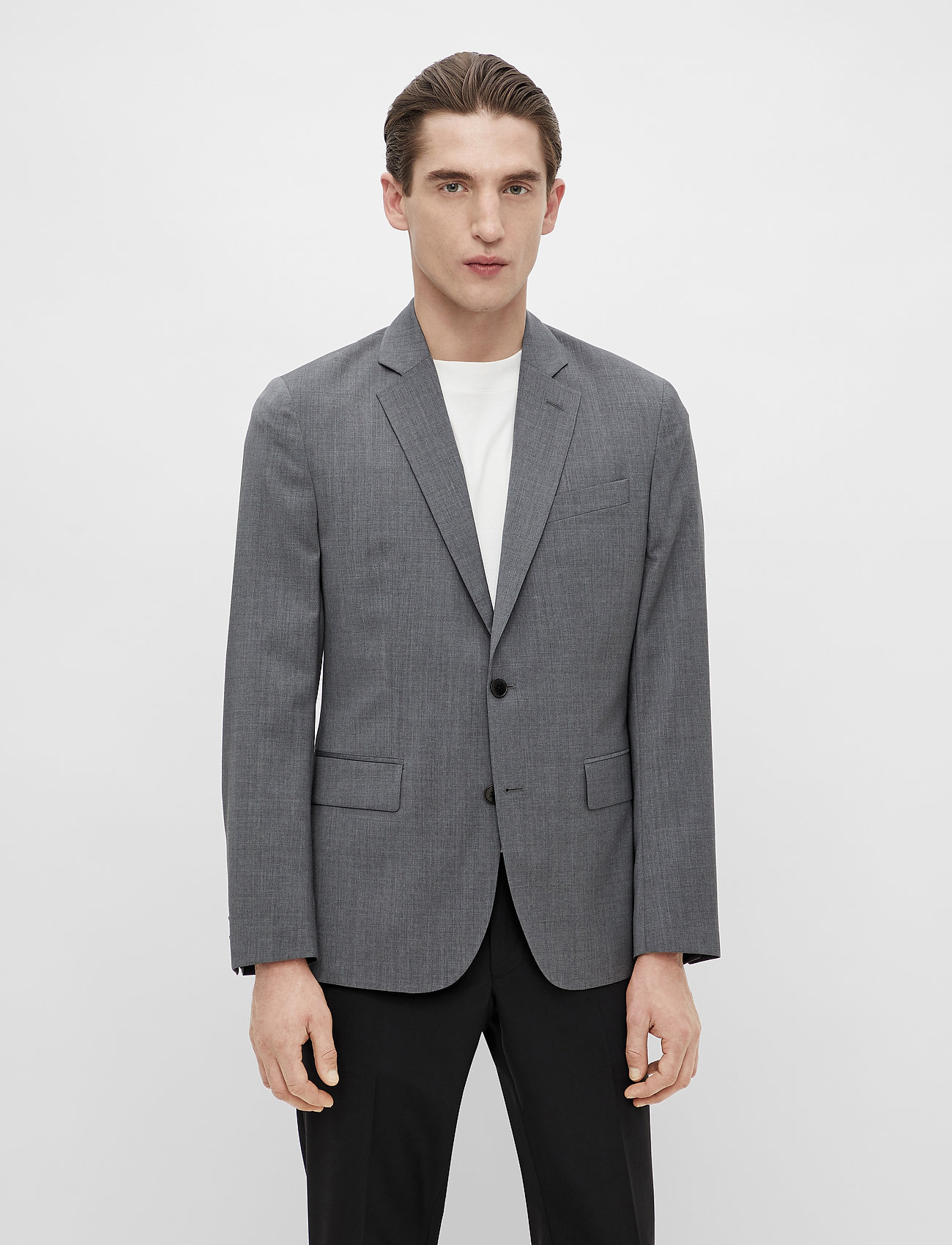 J. Lindeberg - Hopper U Comfort Wool Blazer - single breasted blazers - stone grey - 0