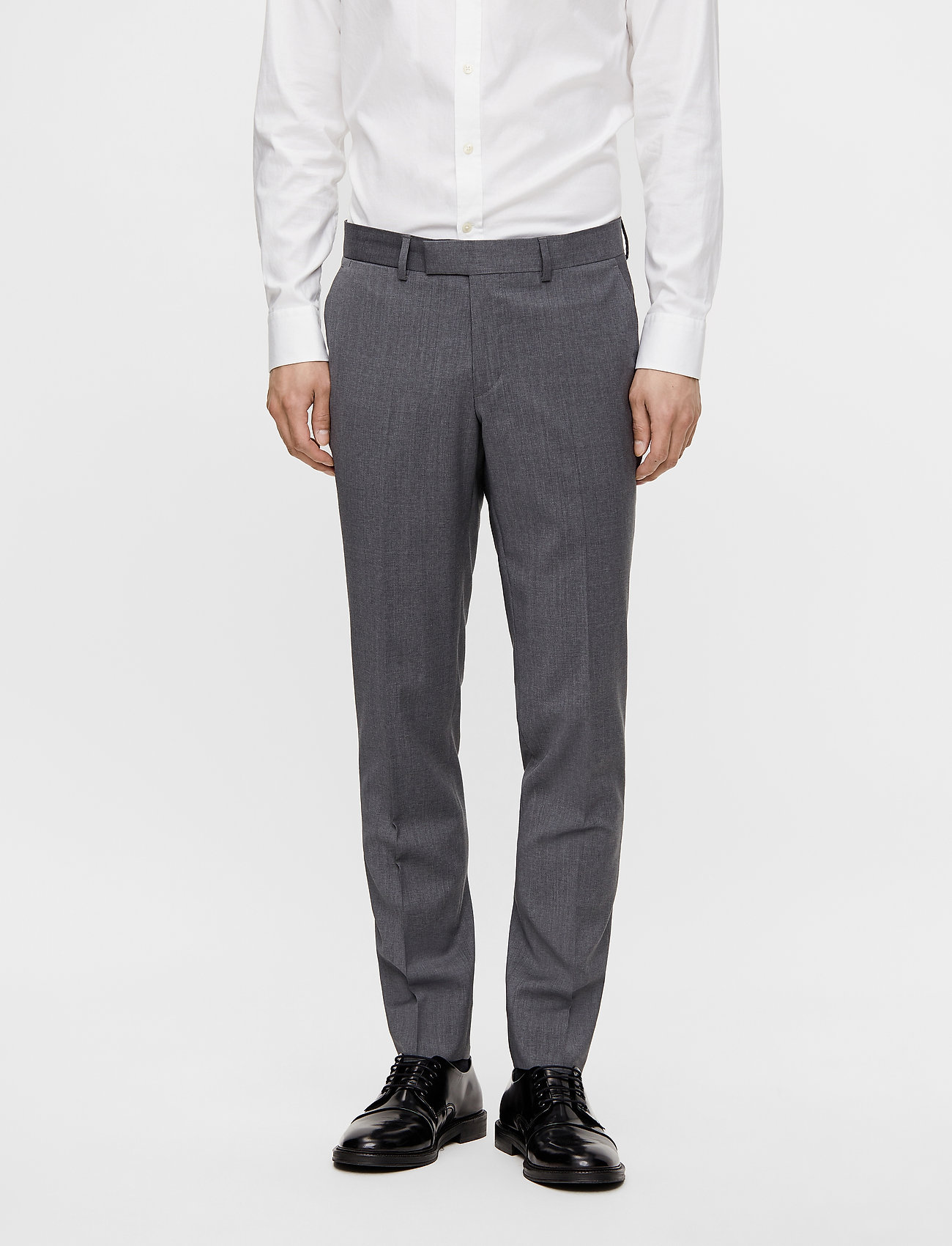 J. Lindeberg - Grant Comfort Wool Pants - anzugshosen - stone grey - 0