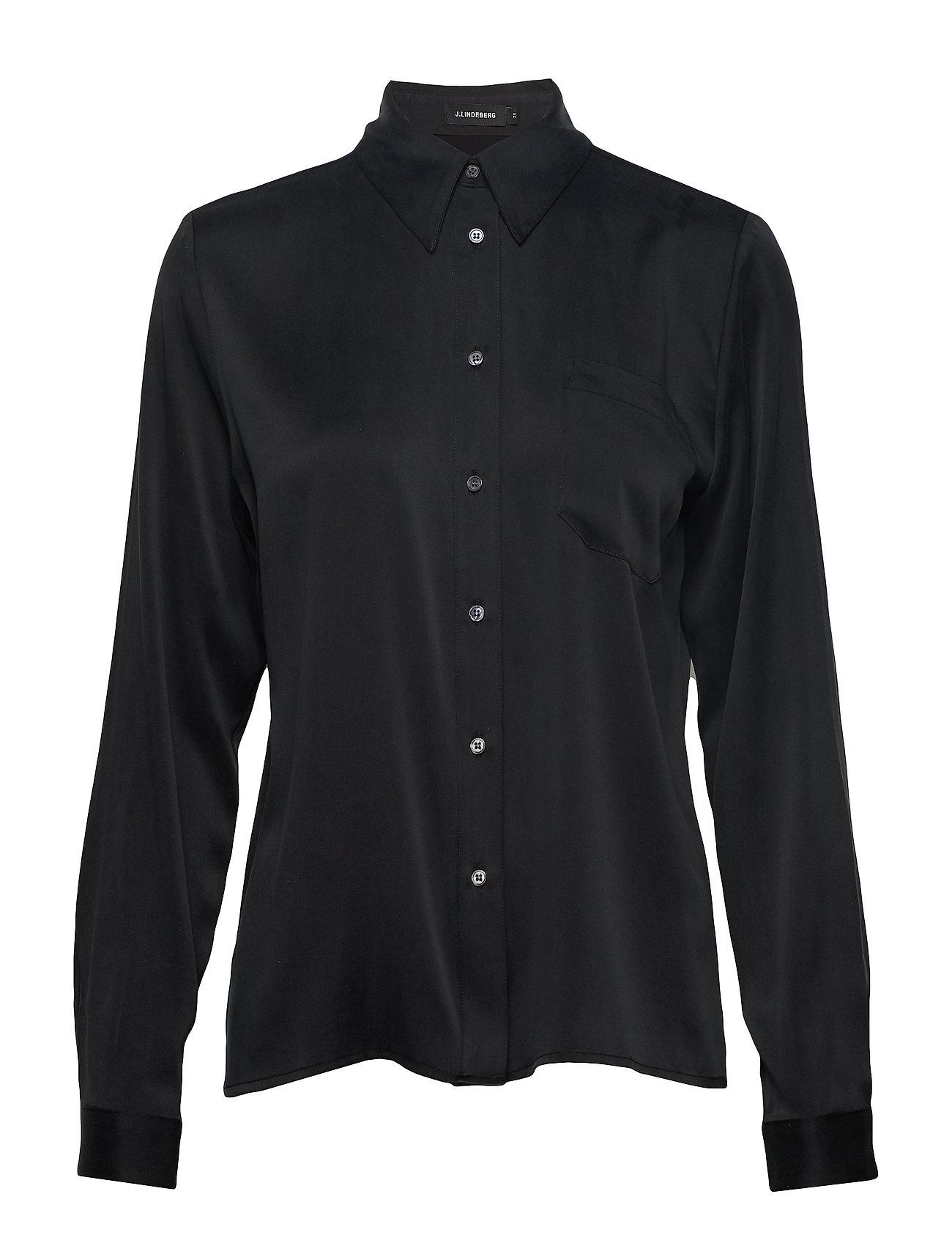 J. Lindeberg Mallory-Washed Silk - BLACK