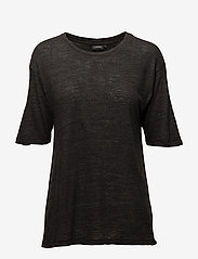 J. Lindeberg - Rhonda Wool Jersey - t-shirts - black mel - 0