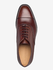 J. Lindeberg - Hopper Leather Oxford Shoe - schnürschuhe - brown - 3