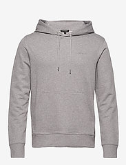 J. Lindeberg - Throw Hood-Clean sweat - basic sweatshirts - grey melange - 0