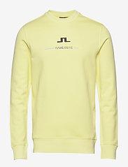 J. Lindeberg - Thrust C-Neck-Ring Loop Sweat - basic sweatshirts - still yellow - 0