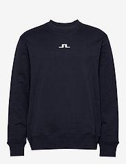 J. Lindeberg - Hurl Bridge-JLJL Sweat - basic sweatshirts - jl navy - 0