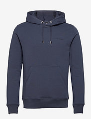 J. Lindeberg - Throw Clean Sweat Hoodie - basic-sweatshirts - jl navy - 1
