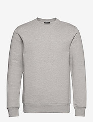 J. Lindeberg - Throw C-neck Sweatshirt - basic-sweatshirts - grey melange - 1