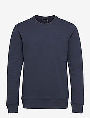 J. Lindeberg - Throw C-neck Sweatshirt - basic-sweatshirts - jl navy - 1