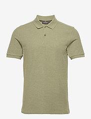 J. Lindeberg - Troy Polo Shirt Seasonal Pique - kurzärmelig - lake green melange - 1