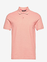 J. Lindeberg - Troy Polo Shirt Seasonal Pique - kurzärmelig - rose melange - 0