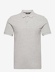 J. Lindeberg - Troy Polo Shirt Seasonal Pique - kurzärmelig - stone grey melange - 1