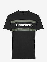 J. Lindeberg - Silo Logo T-shirt - kurzärmelig - black - 1