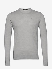 J. Lindeberg - Newman-Perfect Merino - basic strik - grey melange - 0