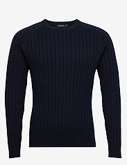 J. Lindeberg - Jace-Contrast knit - basic strik - jl navy - 0