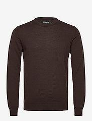 J. Lindeberg - Lyle Merino Crew Neck Sweater - rundhals - dark brown - 0