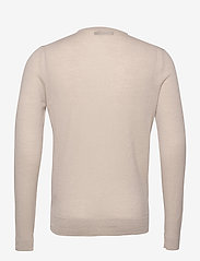 J. Lindeberg - Newman Merino V-neck - basic-strickmode - sand grey - 2