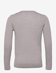 J. Lindeberg - Newman Merino V-neck - basic-strickmode - stone grey melange - 2