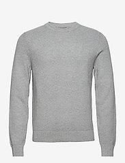 J. Lindeberg - Andy Structure C-Neck Sweater - basic-strickmode - stone grey melange - 1
