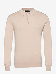 J. Lindeberg - Rowan Cotton Silk LS Polo - langärmelig - sand grey - 1