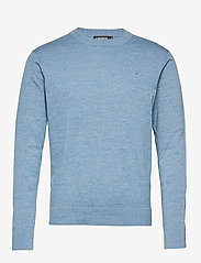 J. Lindeberg - Niklas Mouline Crew Neck - basic-strickmode - spring blue - 1